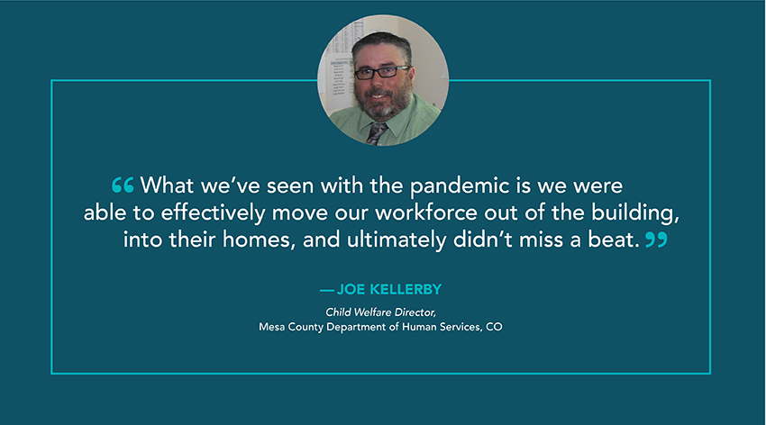 Customer quote - We were able to effectively move our workforce out of the building